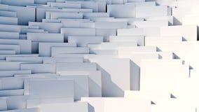Разбросанные кубы - предпосылка конспекта 8k Стоковая Фотография