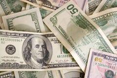 разбросанные наличные деньги Стоковое Изображение