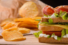 Разбросанные обломоки с сандвичем Стоковое Изображение RF
