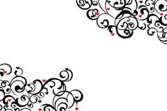 разбросанный красный цвет сердец Стоковые Изображения