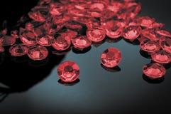 Разбросанный рубин стоковая фотография