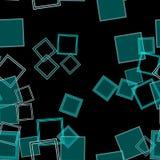 Разбросанный Aqua квадратов Стоковая Фотография
