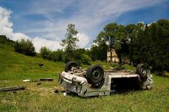 развалина автокатастрофы Стоковое Изображение