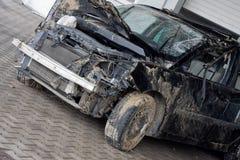 развалина автомобиля напольная стоковая фотография rf
