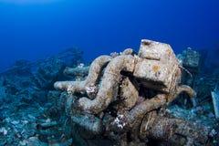 развалина двигателя подводная Стоковые Изображения RF