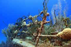 развалина корабля подводная Стоковое Фото