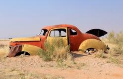 развалина станции namib последнего пустыни автомобиля ржавая Стоковые Изображения RF