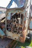 Развалина старого сдаватього в утиль экскаватора стоковая фотография rf