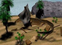развалина шлюпки Стоковые Изображения RF