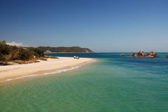 развалины tangalooma moreton острова Стоковое фото RF