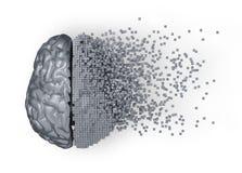 Развал мозга цифров металла Стоковая Фотография