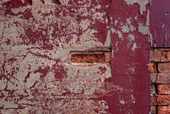 Разваленный бетон с голым кирпичом Стоковые Фотографии RF