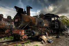 Развалина коммунистического локомотива в Гаване, Кубе Стоковые Изображения RF