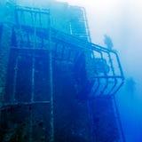 Развалина корабля Zenobia около Paphos, Кипра Стоковое Фото