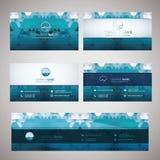Развевайте значок и геометрические абстрактные визитные карточки Стоковые Фото