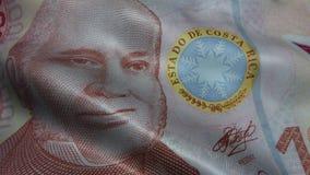 Развевали деньги банкноты двоеточия Коста-Рика видеоматериал