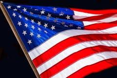 развевать американского флага Стоковое Изображение