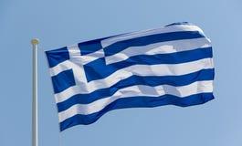 развевать грека флага стоковое изображение