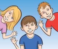 развевать малышей ся иллюстрация вектора