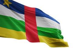 Развевать национального флага Центральноафриканской Республики изолированный на белой иллюстрации предпосылки 3d бесплатная иллюстрация