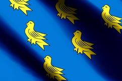 Развевать Сассекс красочные и иллюстрация флага крупного плана бесплатная иллюстрация