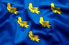Развевать Сассекс красочные и иллюстрация флага крупного плана иллюстрация вектора