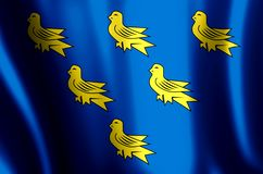 Развевать Сассекс красочные и иллюстрация флага крупного плана иллюстрация штока