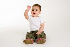 развевать усмешки младенца стоковые изображения rf