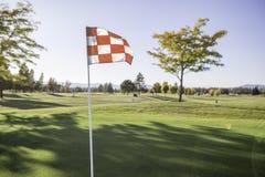 Развевать флага гольфа стоковые изображения