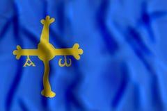 Развевать флага Астурии бесплатная иллюстрация