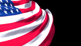 Развевать флага США иллюстрация вектора