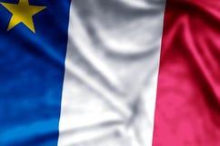 Развевать Acadia красочные и иллюстрация флага крупного плана бесплатная иллюстрация