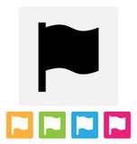 Развевая значок флага стоковая фотография
