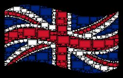 Развевая картина флага Великобритании значков дисплея компьютера бесплатная иллюстрация