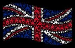Развевая мозаика флага Великобритании деталей христианской церков бесплатная иллюстрация