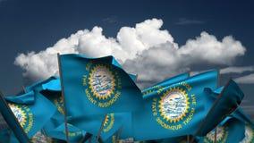 Развевая национальные флаги Южной Дакоты бесплатная иллюстрация