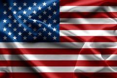 Развевая текстура Соединенных Штатов Америки американского флага, backgrou Стоковое Изображение