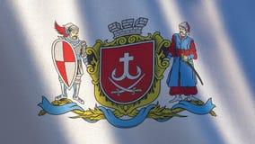 Развевая флаг города Vinnytsia, Украины иллюстрация 3d иллюстрация вектора