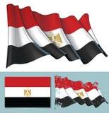 Развевая флаг Египта