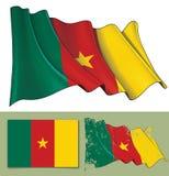 Развевая флаг Камеруна