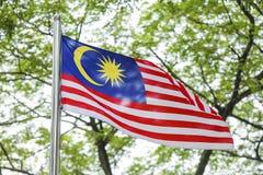 Развевая флаг Малайзии, Jalur Gemilang стоковые фотографии rf