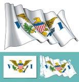 Развевая флаг США Виргинских островов бесплатная иллюстрация