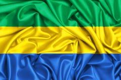 развевая флаг 3d Габона Стоковые Фото