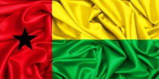 развевая флаг 3d Гвинеи-Бисау Стоковое Фото