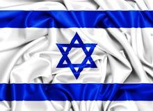 развевая флаг 3d Израиля в ветре Стоковое Изображение RF