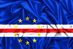развевая флаг 3d Кабо-Верде Стоковая Фотография RF