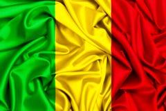 развевая флаг 3d Мали Стоковые Фотографии RF