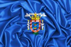 развевая флаг 3d Мелильи, Испании Стоковые Изображения RF