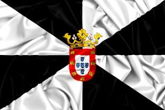 развевая флаг 3d Сеуты, Испании Стоковые Фото