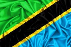 развевая флаг 3d Танзании Стоковые Фотографии RF